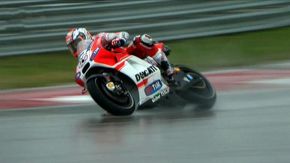 MotoGP, Austin: sotto il bagnato Dovi e la Ducati volano. Risultati FP1