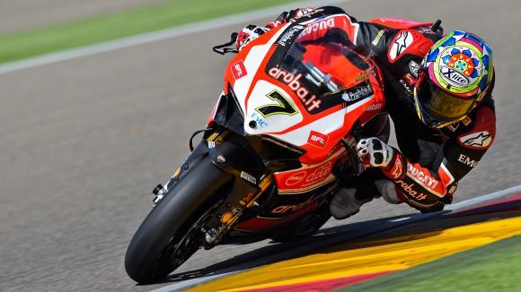 SBK, Aragon: Davies riporta la Ducati alla vittoria. Sykes K.O.