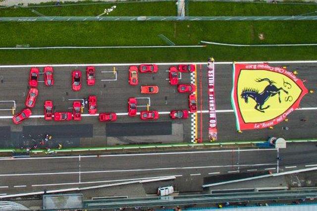 """""""Go Michael-Jules"""": a Monza il tributo dei Ferrari Club"""