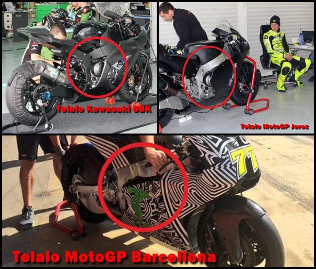 nuovo telaio Akira Kawasaki Test MotoGP