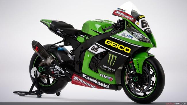 SBK: a Laguna Seca GEICO sarà Title Sponsor Kawasaki