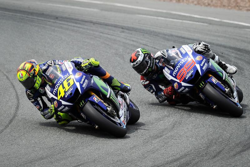Valentino Rossi Jorge Lorenzo Yamaha Brno 2015