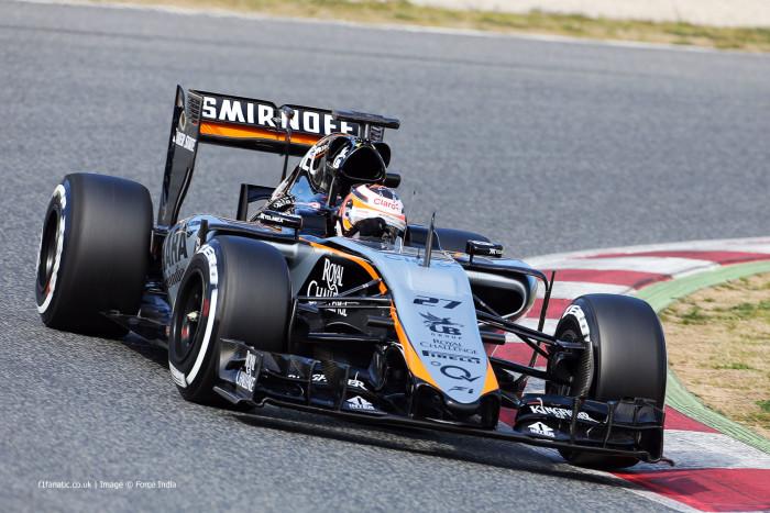 Niko Hulkenberg Force India Test F1 2015