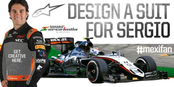 Force India F1 Sergio Perez Design Race Suit