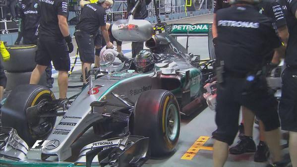 Nico Rosberg F1 Singapore 2015 FP1
