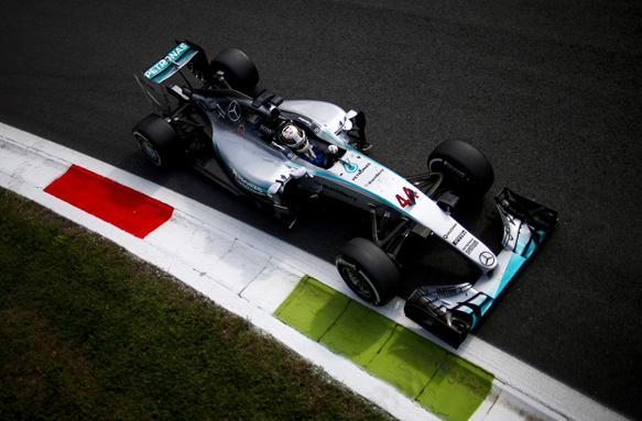 Lewis Hamilton Mercedes GP Monza 2015