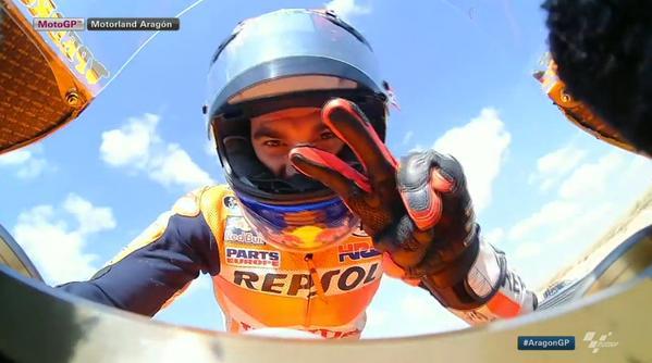 Dani Pedrosa Valenti Rossi Aragon 2015