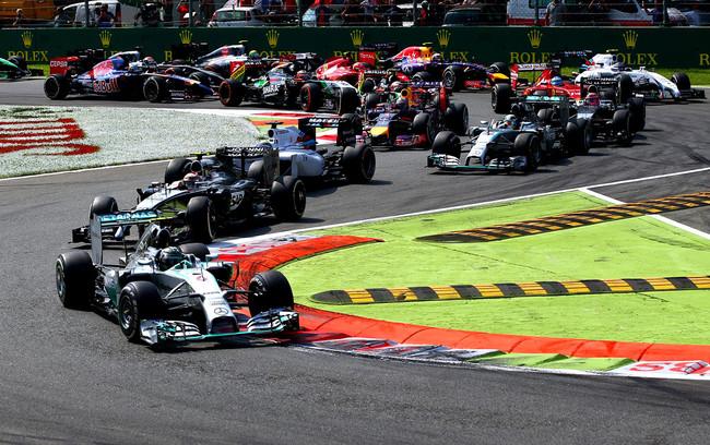 F1 GP Monza prima variante partenza