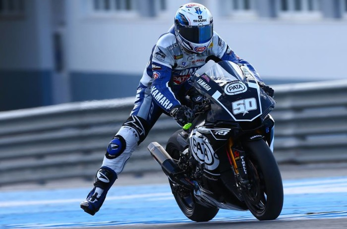 Test Yamaha R1 WSBK Jerez Sylvain Guintoli