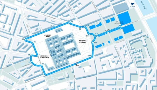 Layout Paris ePrix