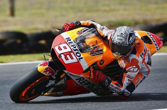 MotoGP: Marquez è 1° nel Day-3. Tante cadute e frattura per Petrucci