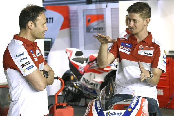 Casey Stoner Ducati GP16 Test Qatar 2016