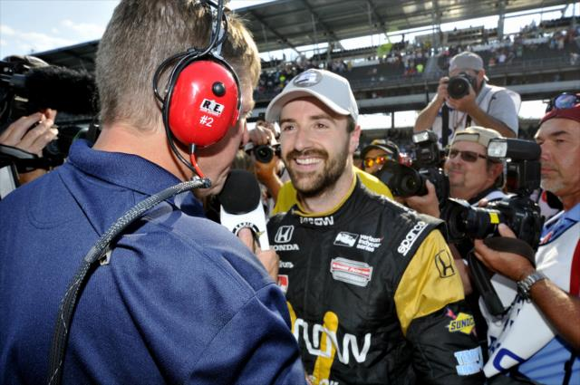 Hinchcliffe in pole all'Indy500