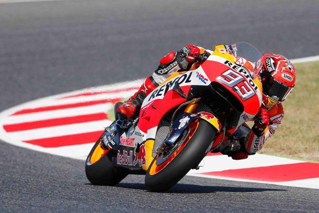 Pole-Position a Barcellona per Marquez che fa il vuoto. Rossi chiude in 5° posizione
