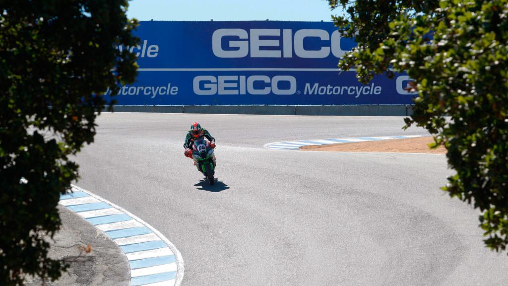 Le Kawasaki volano a Laguna Seca con Sykes di nuovo in Pole. Hayden 6°