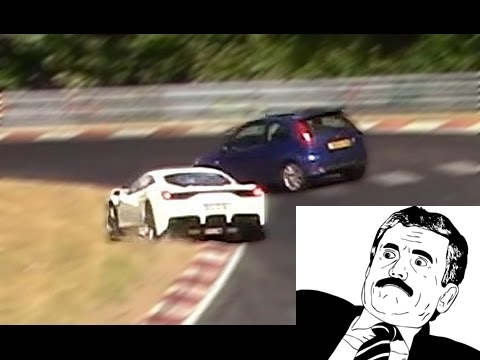 Prima regola del Nurburgring: non tagliare la strada! (VIDEO)
