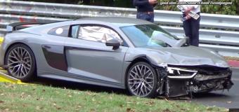 VIDEO: ieri, Crash al Nurburgring per un'Audi R8 V10