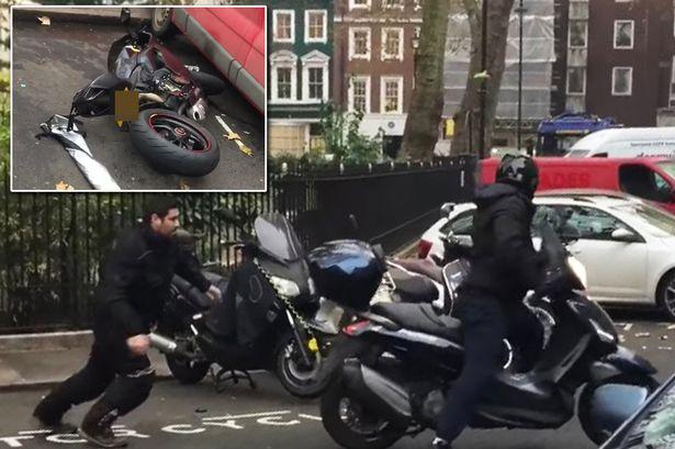 In centro a Londra fallito tentativo di furto di una Ducati Panigale [VIDEO]
