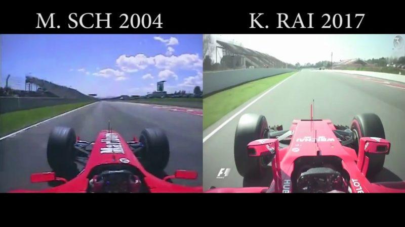Ferrari F2004 vs SF70H: l'incredibile confronto con la nuova macchina 2017
