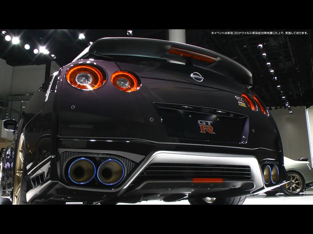 Nissan GT-R T-SPEC exhaust system